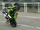 Stunt show by Kevin Carmichael at the Isle of Man