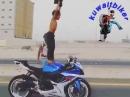 Stuntrider Kleiner Junge (8J) auf Suzuki GSXR - Cool oder unverantwortlich?