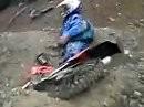 Stupid Dirt Bike Crash - auch ein Crosser kommt nicht überall durch ...