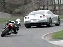 Superbike Aprilia RSV4 Factory APRC SE vs Nissan GT-R