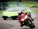 Superbike Aprilia RSV4 vs. Lamborghini LP570-4 Superleggera Auto Express
