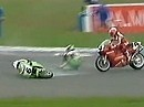 Superbike WM 1993 - Donington (England) Race 1 Zusammenfassung.