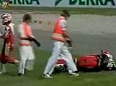 Superbike WM 1995 Hockenheim Race1 Auftaktrennen. Genial: Keith Huewen and Julian Ryder