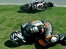 Superbike WM 2010 Valencia - Horror Crash Simon Andrews / Kawasaki