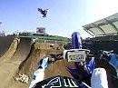 Supercross Josh Hill mit Motorsport Hero 5 Wide aufgenommen - geniale Perspektive