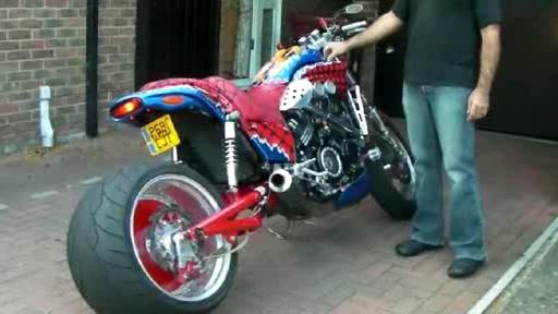 Yamaha VMax Umbau Spiderman NOS