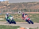 Supermoto (Bidart) vs. Superbike (Noyes) - We are all Racers von Michelin