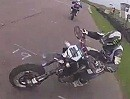 Supermoto Crash auf dem Kringel - beide Fahrer ok