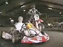 Supermoto Honda CRF450 vs Rennkart auf der Kartbahn
