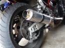 Suzuki 1200 Bandit gekürzter Hurric Auspuff ohne DB Killer