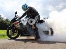 Suzuki GSX-R 1000 K4 Burnout - GoPro Action!!!