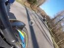 Suzuki GSX-S 750 vs Kawasaki Z750R vs KTM 1290 Super Duke R - Twistie Paradise - (RAW Sound)