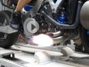 Suzuki Hayabusa Turbo Dynorun - Flammenwerfer