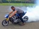 Suzuki Pocketbike Burnout - Klein aber Qualm und Krach wie ein Großer
