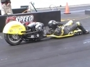 The Luge - Dragracing - der Typ hat Eier :-) - Acto Raceway