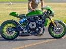 'The Underdog' - Kawasaki Vulcan S Caferacer Umbau, Testride mit Francesca Gasperi