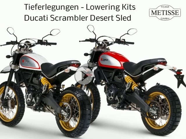 tieferlegung ducati scrambler desert sled team metisse. Black Bedroom Furniture Sets. Home Design Ideas