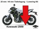 Tieferlegung Kawasaki Z650 und Ninja 650 um 25 und 40 mm | Team Metisse