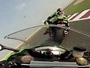 Tom Sykes & Joan Lascorz on board lap Katar Kawasaki Ninja ZX-10R bisschen spielen