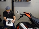 TOP! Pflichtumbauten Motorrad TüV gerecht erledigen - Aprilia Tuono V4 factory 2018