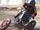 TreMoto Monstrosity 620 Ducati Leaning Reverse Trike - Ducati mal anders