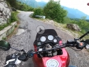 Treviso, Passo Fobbia (1090 m ) am Idrosee mit Aprilia Pegaso 650
