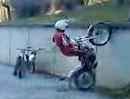 Trial Motorrad Crash: Wie springe ich eine Wand hoch? Oder nicht!