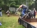 """Triumph Burnout Crash - vom Hänger """"gesprungen"""""""