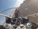 Triumph Daytona 675R (2013) in onboard Lap Cartagena, Spanien
