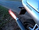 Triumph Sprint ST 955i mit LLRC Auspuffanlage spuckt Feuer