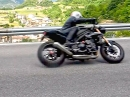 Triumph Speed Triple FlyBy in Südtirol (Loppio, Trentino)