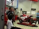 Troy Bayliss at Ducati factory