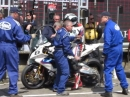 TT 2014 - Boxenstopp Michael Dunlop - Sieger Superbike Lauf