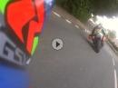 TT2017 Vollgastier M.Dunlop, SeniorTT Race Suzuki onboard beim attackieren