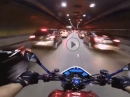 Tunnel Eskalation mit Honda Hornet