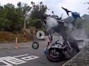 Übel abgeräumt - nix für schwache Nerven! Horror Crash! Bikes Totalschaden, Fahrer mit Knochenbrüchen im KH