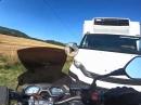 Übel: Honda CB650F Crash in Gegenverkehr, zu früh aufgemacht!?