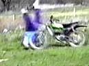 Motorrad Überschlag - Der Klassiker schlechthin - das Original: Dicke Frau überschlägt sich :-)