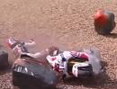 Übler Crash SBK-WM Nürburgring: Sandy Motorplatzer, Rea / Camier böser Abflug