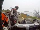 Übler Crash Yamaha R6 - viel zu schnell, Kurve ausgegangen, Einschlag in Gruppe