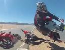 Übler Highsider Crash auf der Rennstrecke
