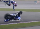 Übler Highsider Sylvain Barrier Superpole1 Katar 2014