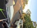 Übler Motorrad Crash. Von hinten abgeschossen und aufs Dach - ganz böse