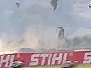 Horror Rennunfall wegen Öl auf der Strecke bei BSB Snetterton