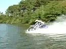 Und es geht doch - ich meine übers Wasser fahren! HIER ist der Beweis.
