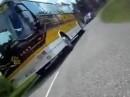 Motorradunfall: Unheimliche Begegnung mit einem Bus - das war knapp!