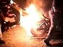 Unsinn Arschburn Firewheel Moped Grillen