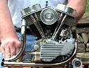 V-Twin Panhead Motorradmotor Maßstab 2/5 - Feinstes Handwerk, läuft, Hammer