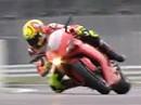 Valentino Rossi, Ducati 1198 at Silverstone Circuit - artgerechter Auslauf