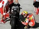 Valentino Rossi Ducati Desmosedici GP12 fährt auf die MotoGP Maloche